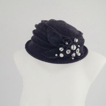 Chapeau gris 100% laine