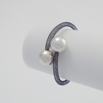 Bracelet zig zag acier