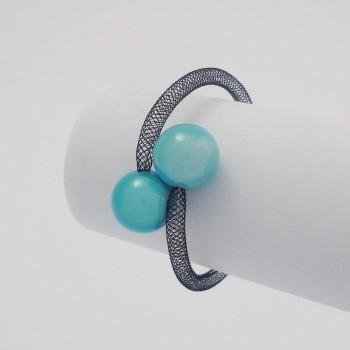 Bracelet zig zag turquoise