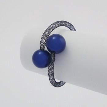 Bracelet zig zag bleu roi