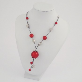 Collier câble magic rouge