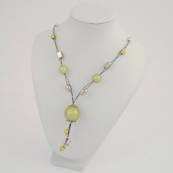 Collier câble magic vert