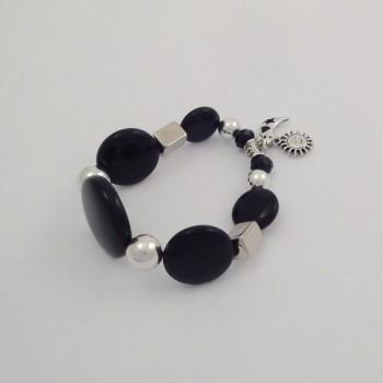 Bracelet couleurs oeil de chat noir