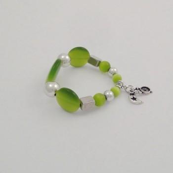 Bracelet couleurs oeil de chat vert
