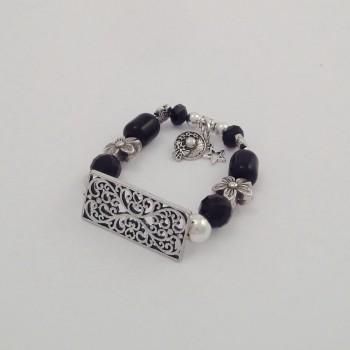 Bracelet couleurs plaque noir