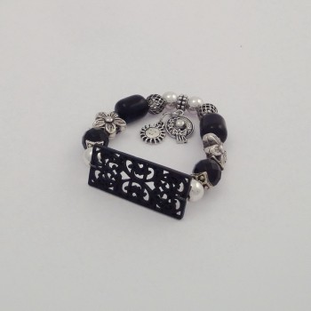 Bracelet couleurs plaque acier